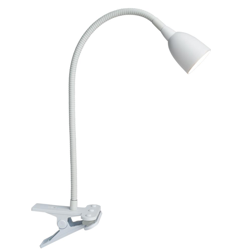 Newhouse Lighting Olivia LED Flexible 22 in. White Clamp Lamp