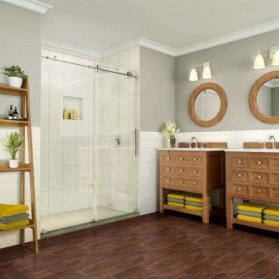 Coraline Pure 56 in. - 60 in. x 76 in. Completely Frameless Sliding Shower Door in Polished Chrome