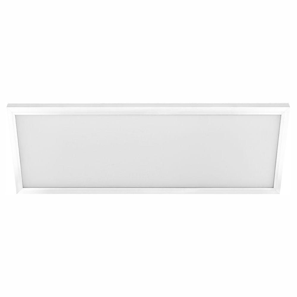 1 ft. x 4 ft. 50W Dimmable White Integrated LED Edge-Lit Flat Panel Flush Mount Light with Color Changing CCT