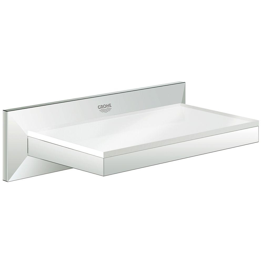 Grohe Allure Brilliant Wall Mounted Soap Dish With Shelf In Starlight Chrome