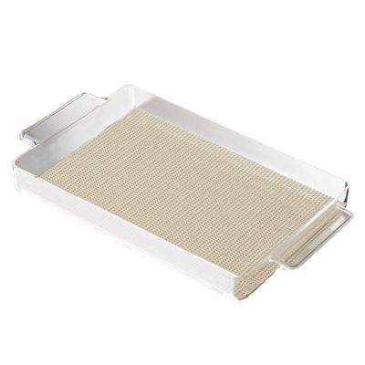 Fishnet Rectangular Serving Tray in Ivory