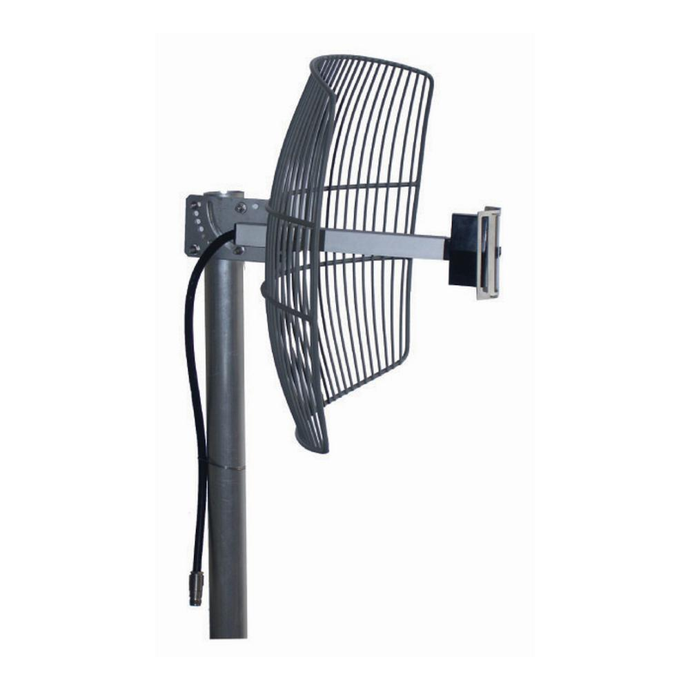 Homevision Technology Turmode Grid Parabolic Wi-Fi Antenna for 2.4GHz Turmode WAG24212 WiFi Antenna is designed to increase the signal strength and range of your 2.4 GHz 802.11b/g/n Wi-Fi device. This high gain antenna can provides further coverage for your Wi-Fi devices such as routers, adapters, access points and repeaters. So you can expand your network for reliable coverage throughout your home.