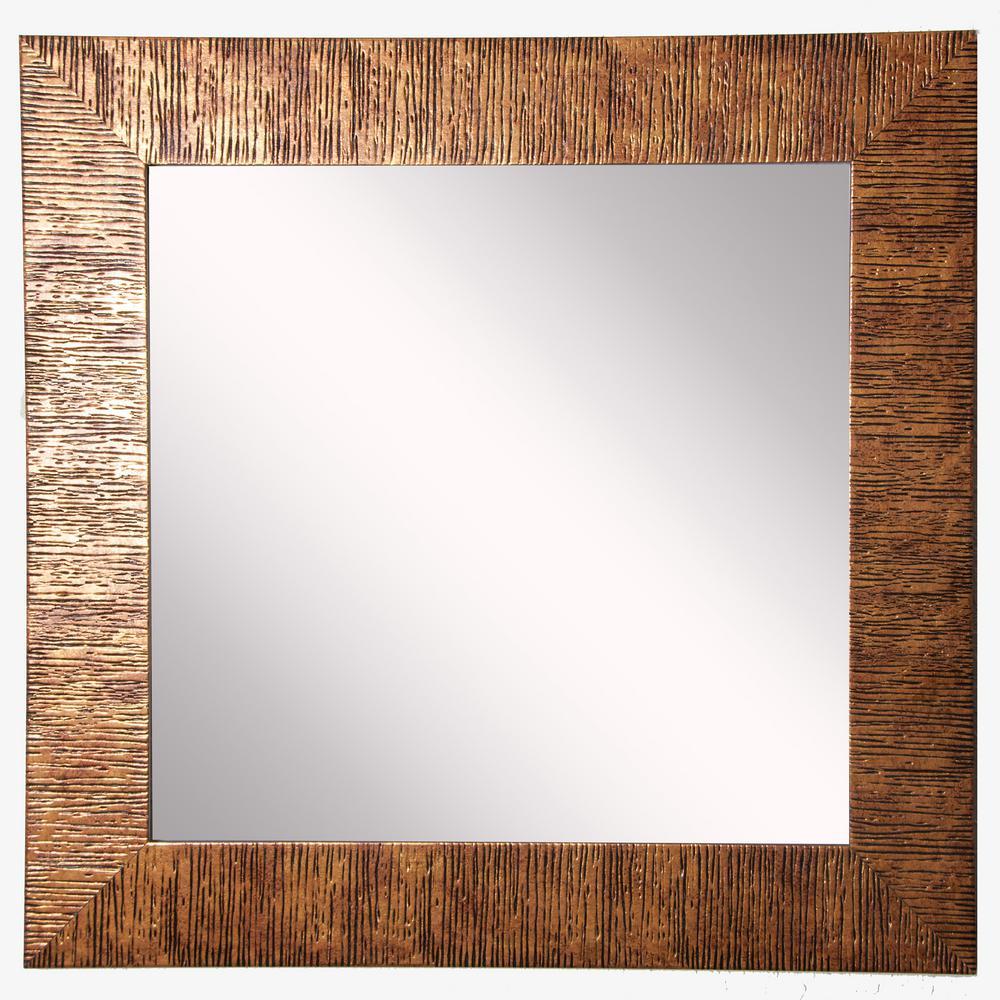 27 in. W x 27 in. H Framed Square Bathroom Vanity Mirror in Bronze