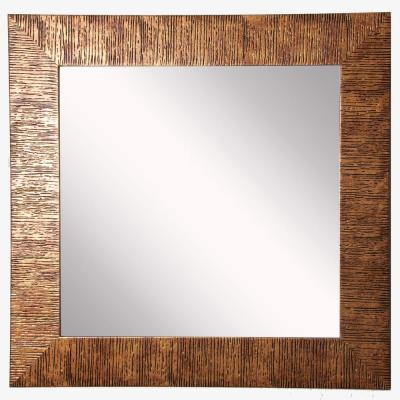19.5 in. x 19.5 in. Safari Bronze Square Vanity Wall Mirror