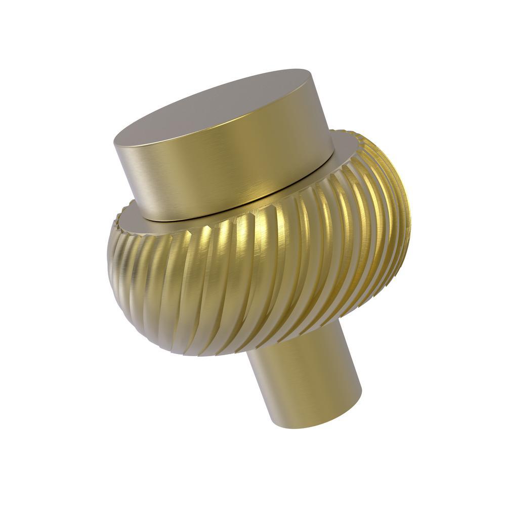 1-1/2 in. Cabinet Knob in Satin Brass