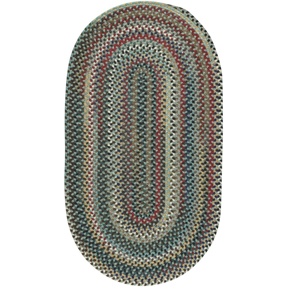 Capel Bunker Hill Leaf Green 27 in x 48 in Oval Area Rug