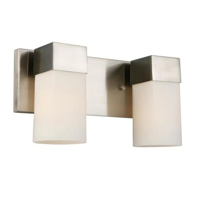 Ciara Springs 2-Light Brushed Nickel Bath Light