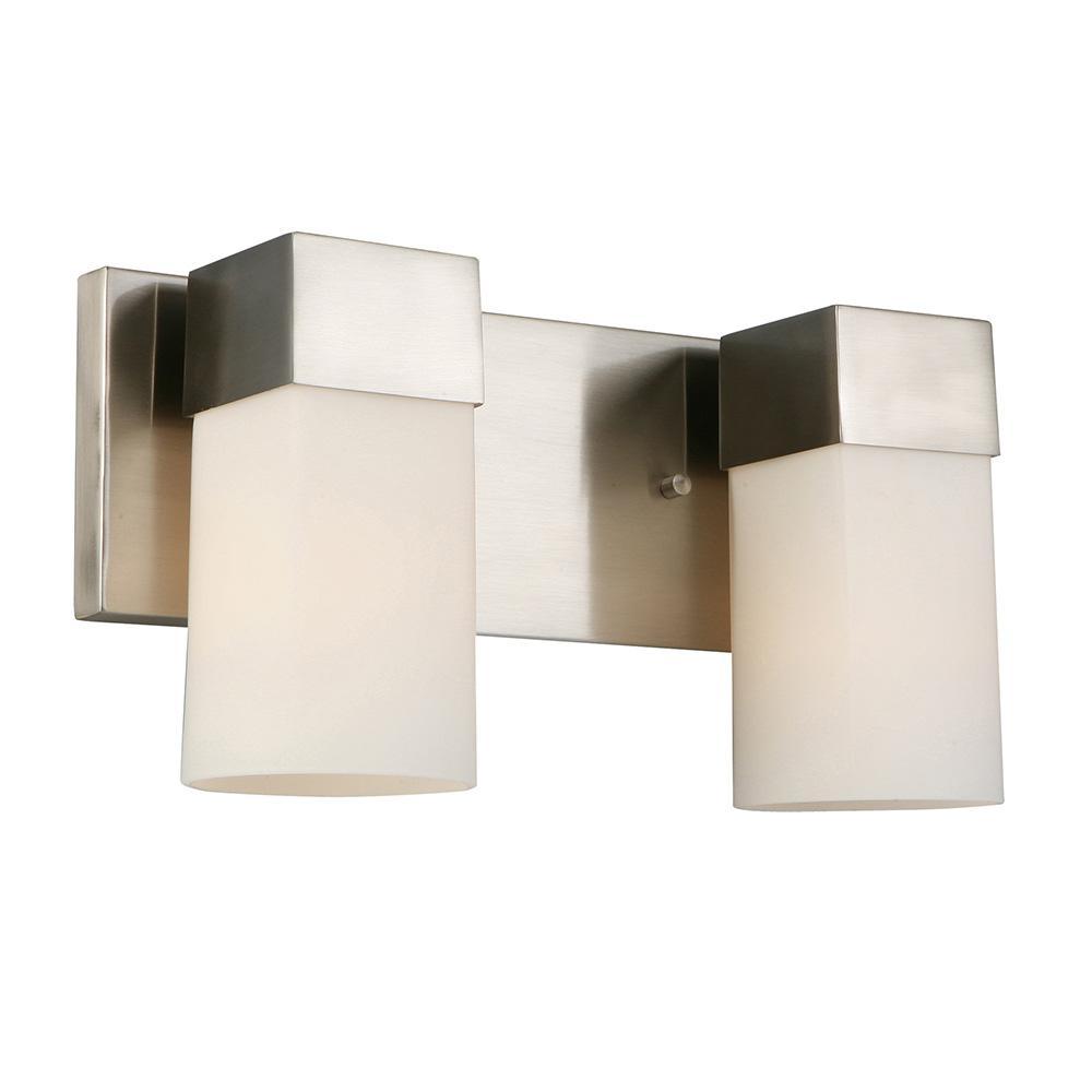 Ciara Springs 2-Light Brushed Nickel Bath Light