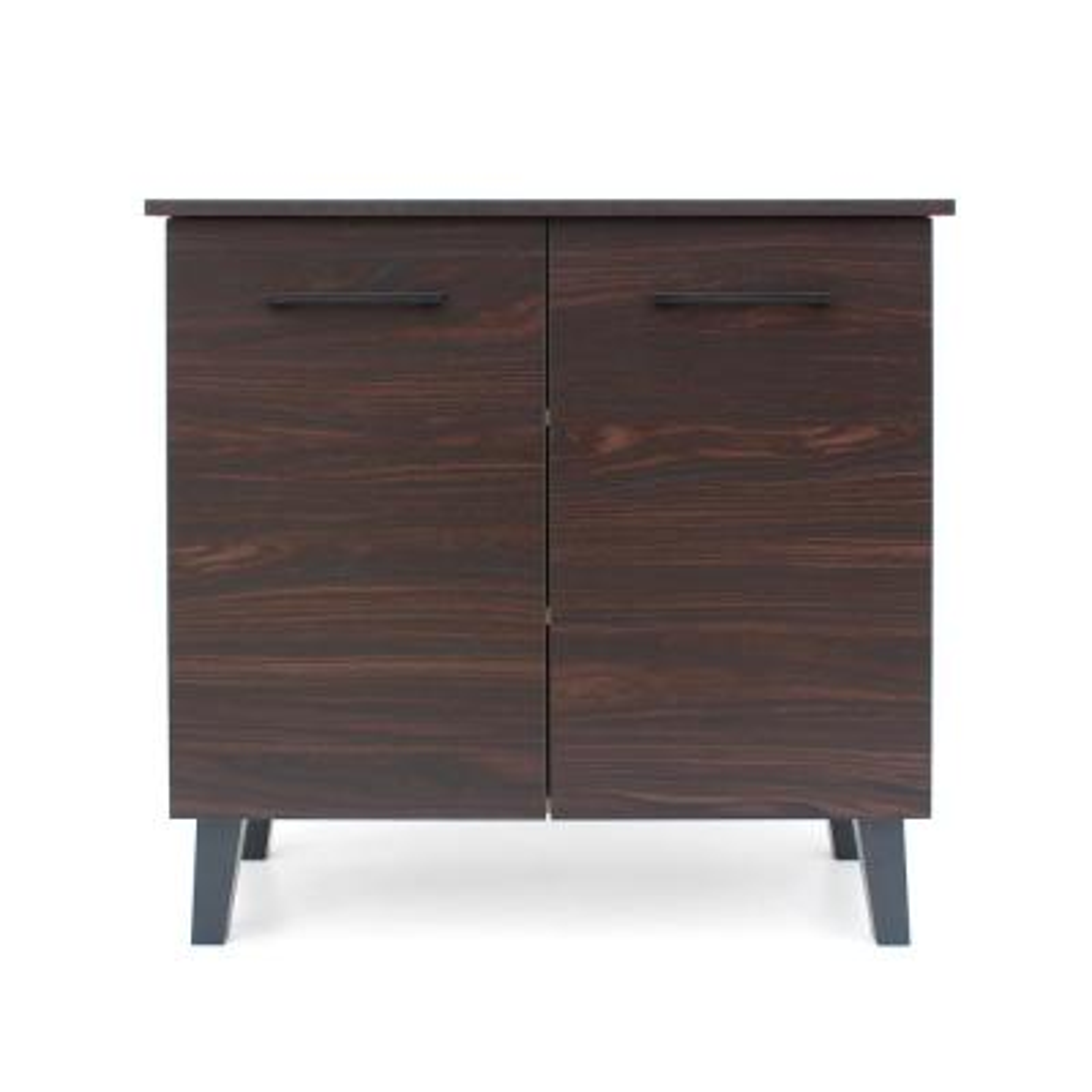 Walnut Brown 2-Door Cabinet with Sanremo Oak Interior