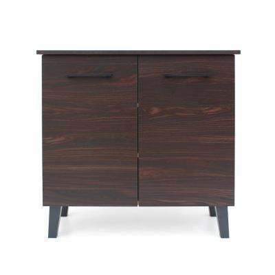 Walnut Brown 2-Door Cabinet with Sanremo Oak Interior
