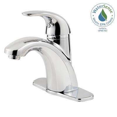 Centerset Single-Handle Bathroom Faucet in Polished Chrome