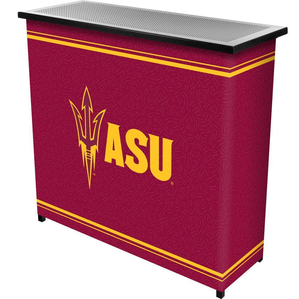 Arizona State University 2-Shelf Black Bar with Case