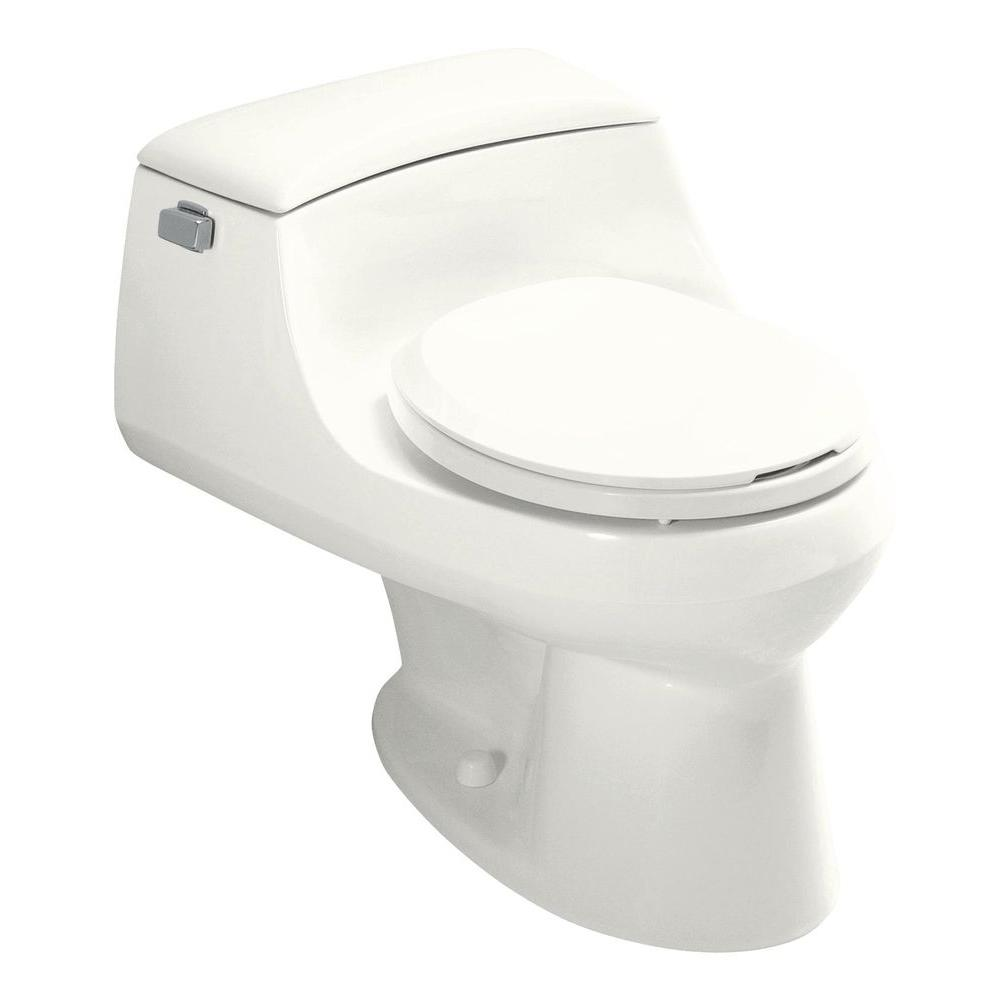KOHLER San Raphael 1-Piece 1.6 GPF Single Flush Round Front Toilet ...