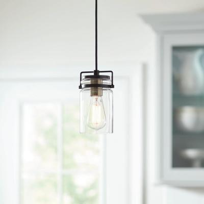 Mason Jar 1-Light Dark Bronze Pendant
