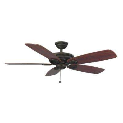 Heirloom 52 in. Indoor/Outdoor Oil Rubbed Bronze Ceiling Fan