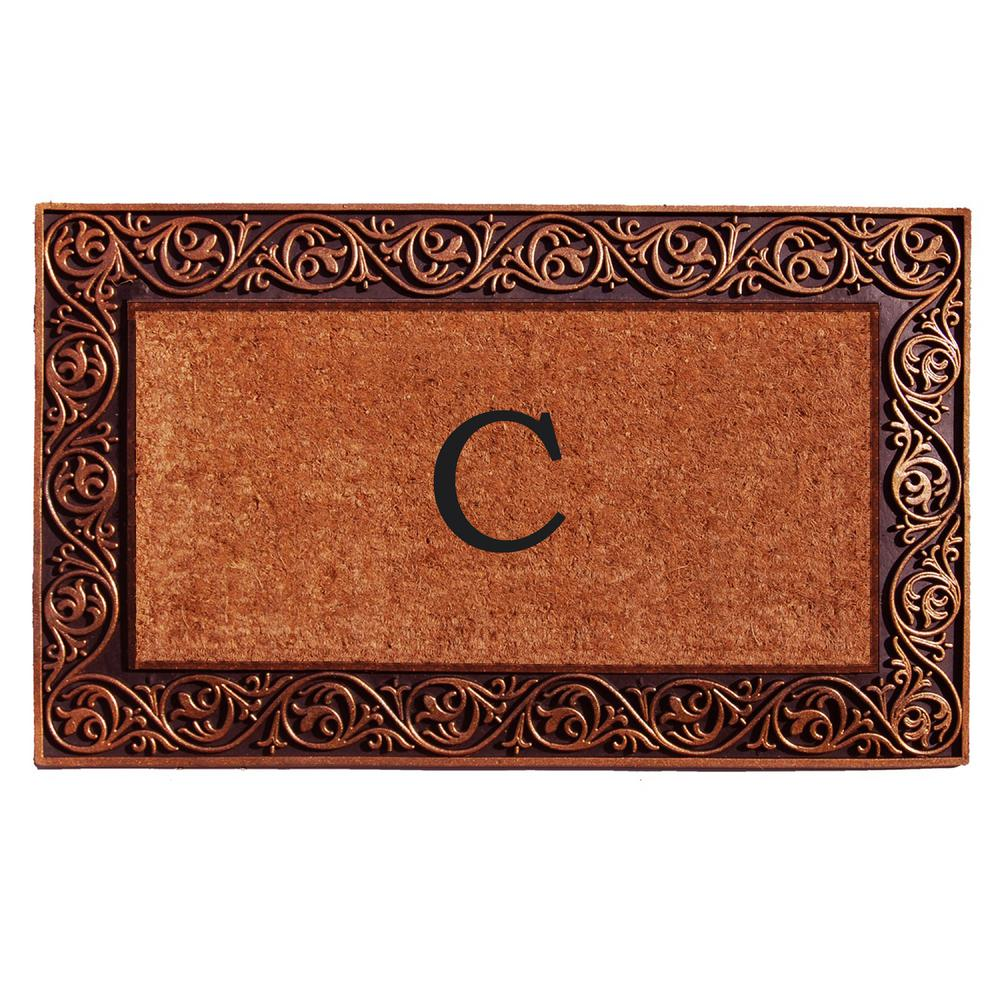 Prestige Bronze Door Mat 18 in. x 30 in. Monogram C