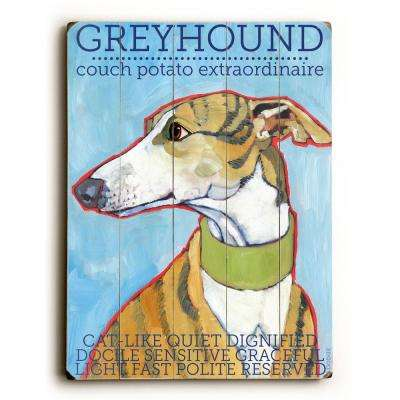 """18 in. x 24 in. """"Greyhound"""" by Ursula Dodge """"Planked Wood"""" Wall Art"""