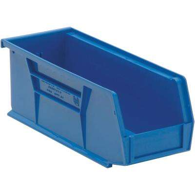 Ultra Series Stack and Hang 3.6 Gal. Storage Bin in Blue (12-Pack)