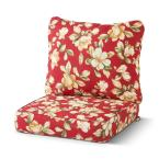 25 in. x 47 in. 2-Piece Deep Seating Outdoor Lounge Chair Cushion Set in Roma Floral