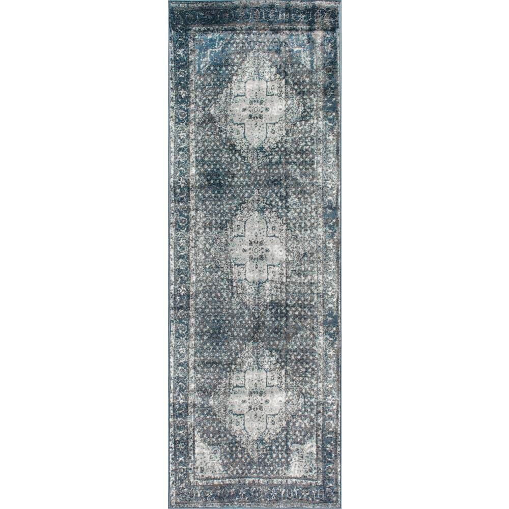 Vintage Kellum Blue 3 ft. x 8 ft. Runner Rug