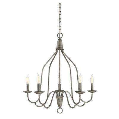Wood chandeliers lighting the home depot 5 light distressed wood chandelier aloadofball