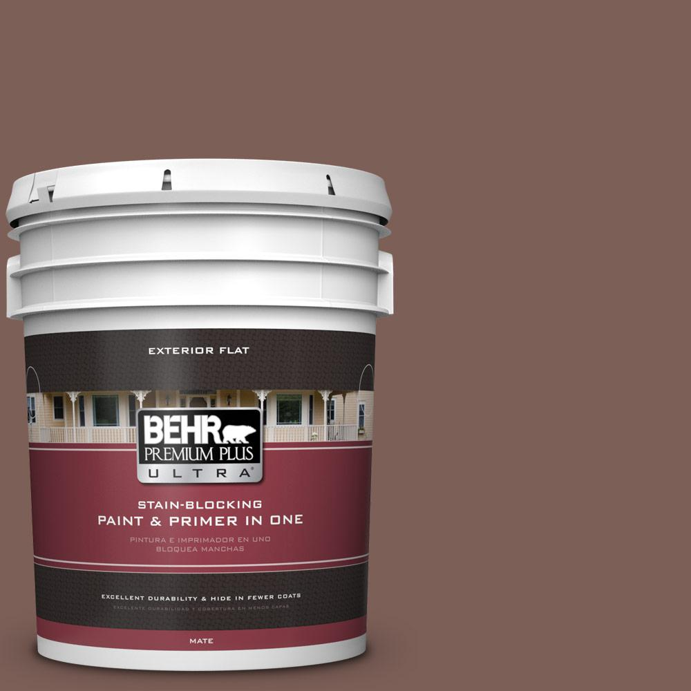 5 gal. #MQ1-57 Secret Journal Flat Exterior Paint and Primer in