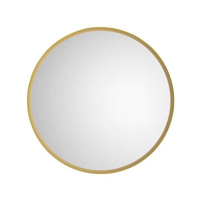 Karan 26 in. W x 26 in. H Framed Round Bathroom Vanity Mirror in Gold, Silver and Copper