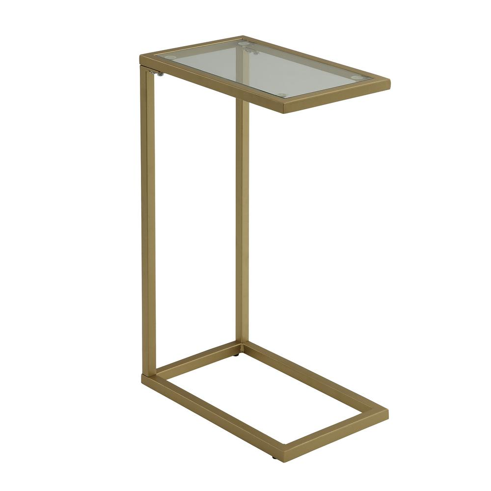 Carolina Cottage Ansley Gold Glass Top Tray Table