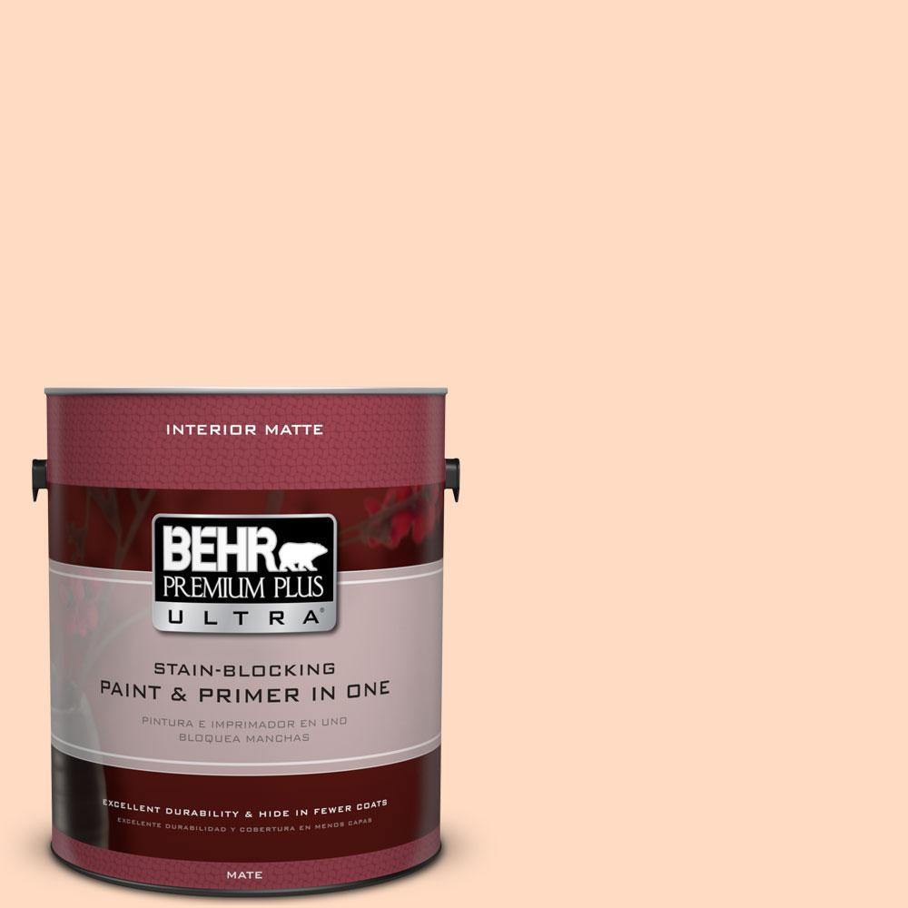 1 gal. #250A-3 Whispering Peach Flat/Matte Interior Paint