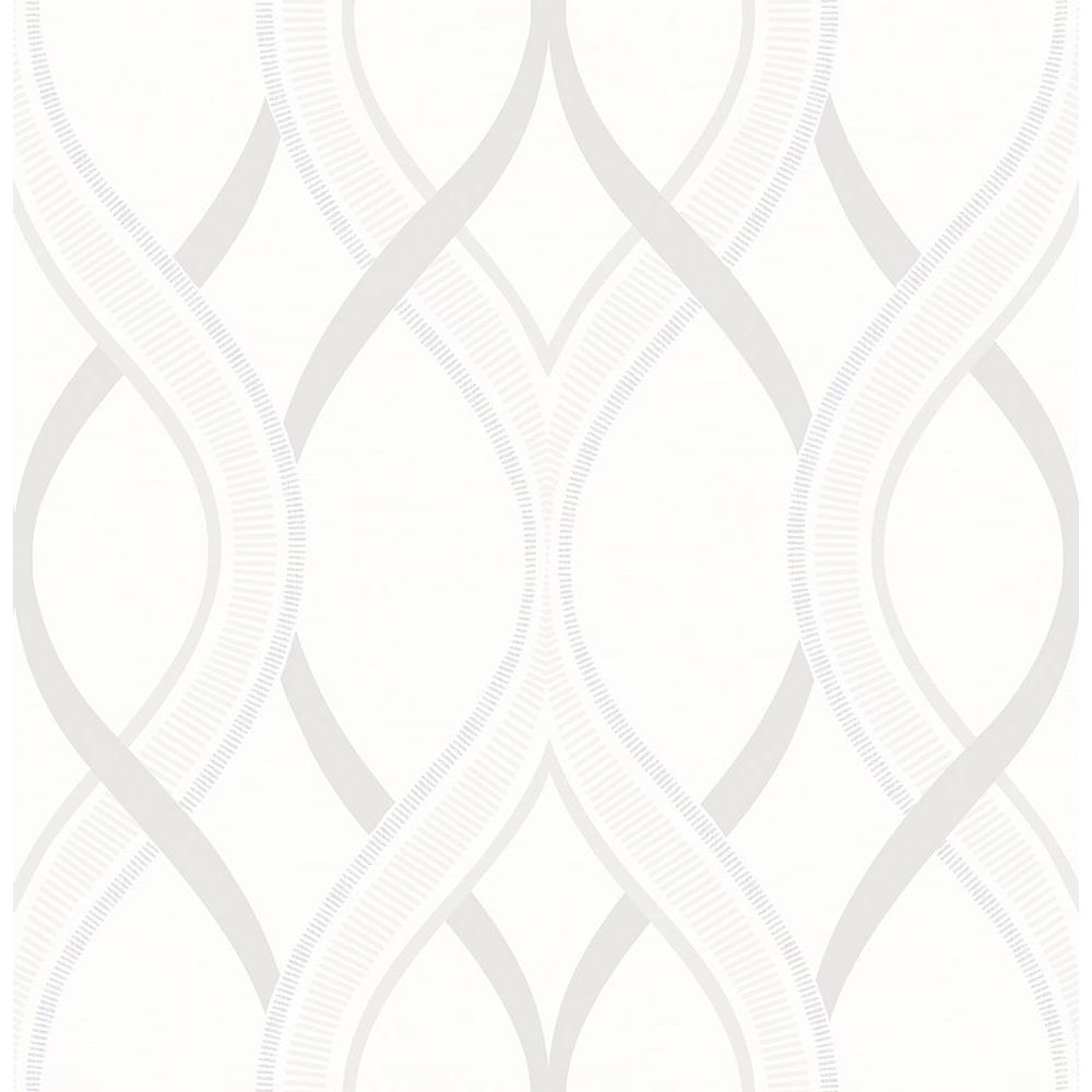 Frequency Cream Ogee Wallpaper Sample