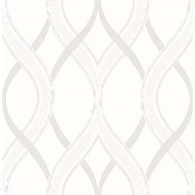 Frequency Cream Ogee Cream Wallpaper Sample