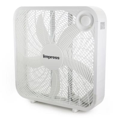 20 in Power Plus Box Fan Plus Portable Compact Air Flow Cooler Indoor Durable