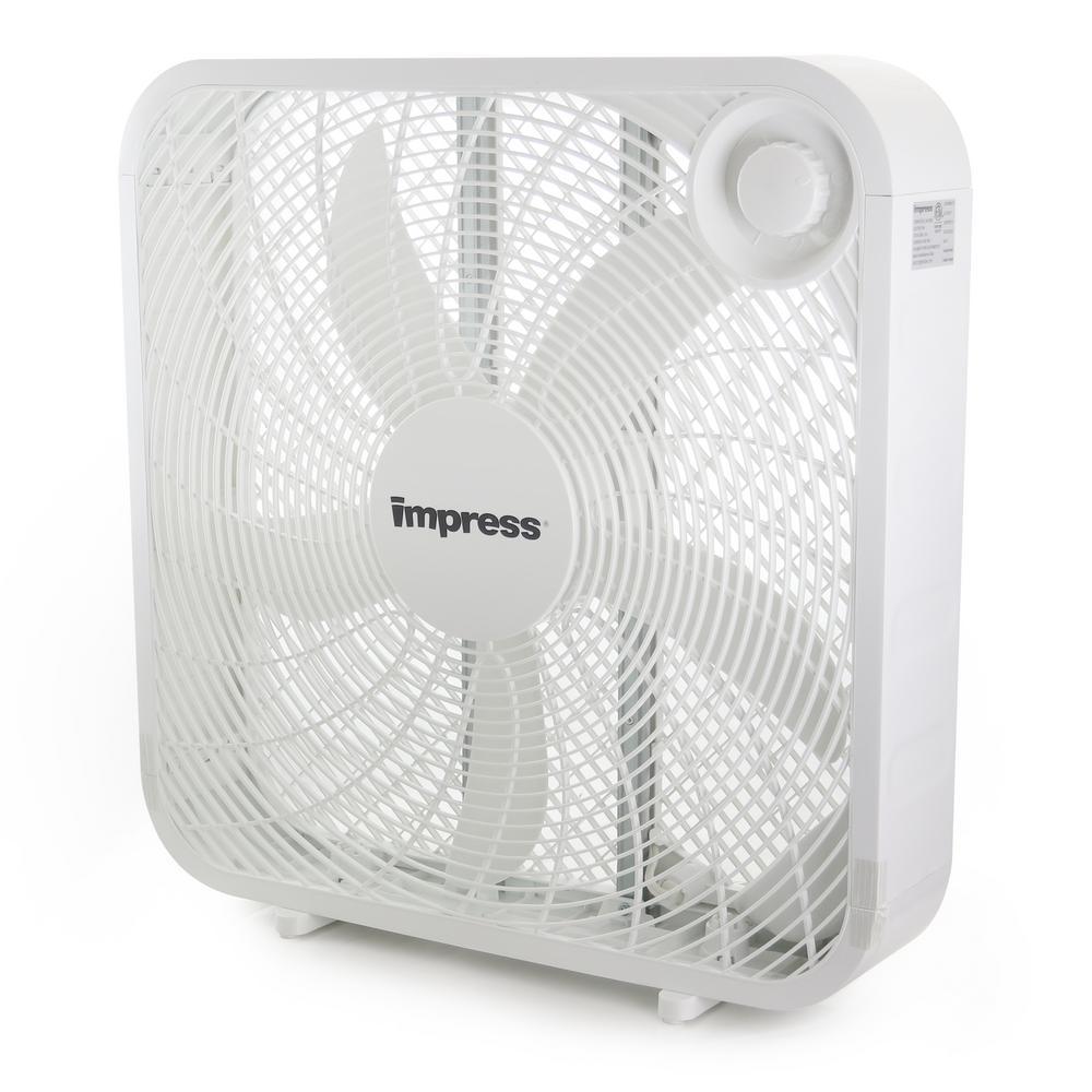 20 in. 3-Speed White Box Fan