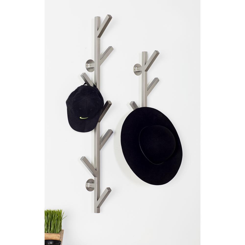 Gray Iron 5-Hook Wall Mounted Coat Rack
