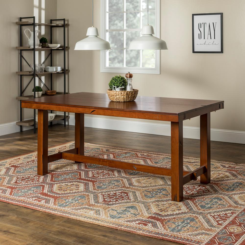 Huntsman Dark Oak Extendable Dining Table