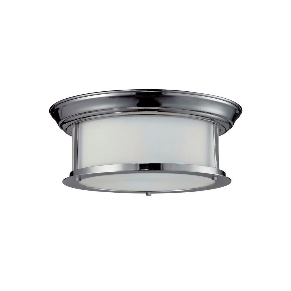Filament Design Lawrence 2-Light Chrome Incandescent Ceiling Flush Mount