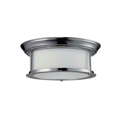 Lawrence 2-Light Chrome Incandescent Ceiling Flush Mount