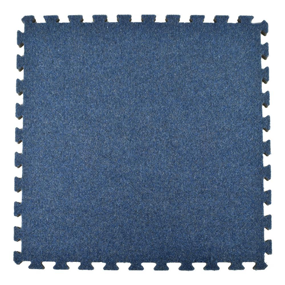 Greatmats Royal Blue Carpet Velour Plush 10 Ft. X 10 Ft. X