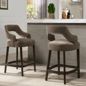 Sensational Moderne 26 Counter Height Bar Stool Set Of 2 Deep Mink Gmtry Best Dining Table And Chair Ideas Images Gmtryco