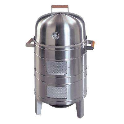Americana Double Grid Charcoal Water Smoker in Stainless Steel