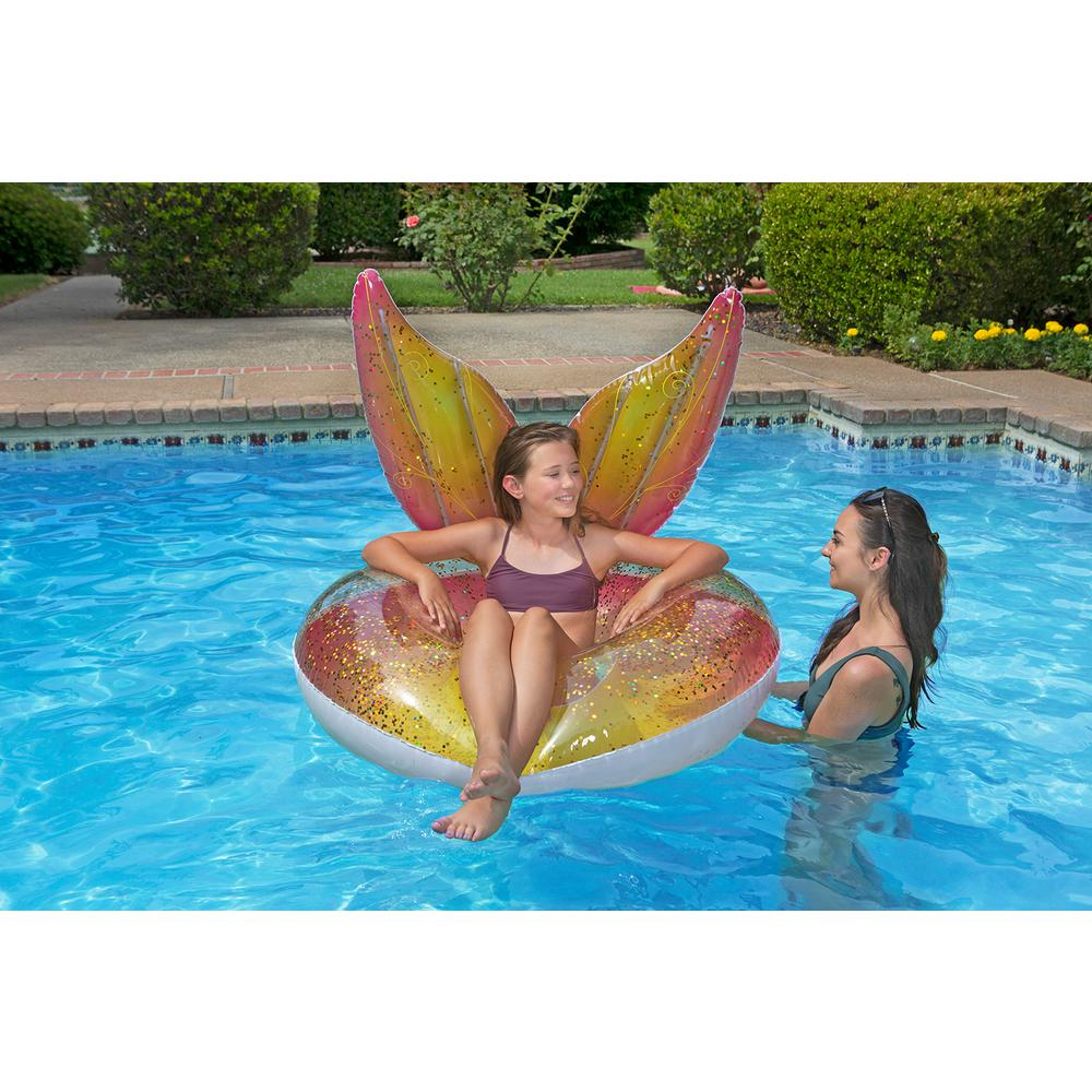 Poolmaster 48 in. Glitter Pixie Inflatable Tube Pool Party Float