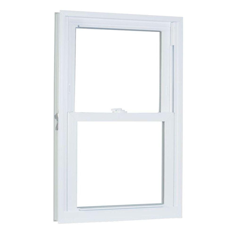 American Craftsman 31.75 in. x 69.25 in. 70 Series Double Hung Buck Vinyl Window - White