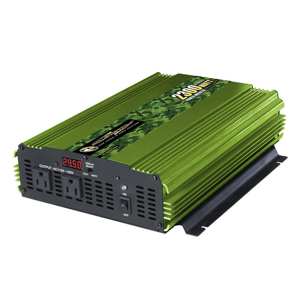 2300-Watts 24-Volt DC to 110-Volt AC Power Inverter