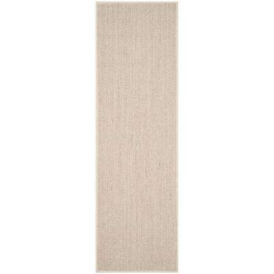 Natural Fiber Marble/Beige 3 ft. x 10 ft. Runner Rug
