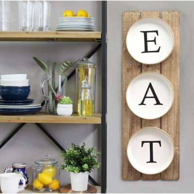 "Planked ""EAT"" Sign"
