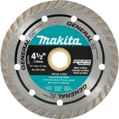 4-1/2 in. Turbo Rim General Purpose Diamond Blade