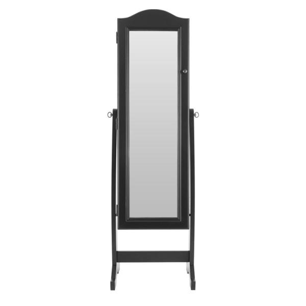 StyleWell Black Jewelry Mirror with Hinged Door (18 in W. X 59 in H.)