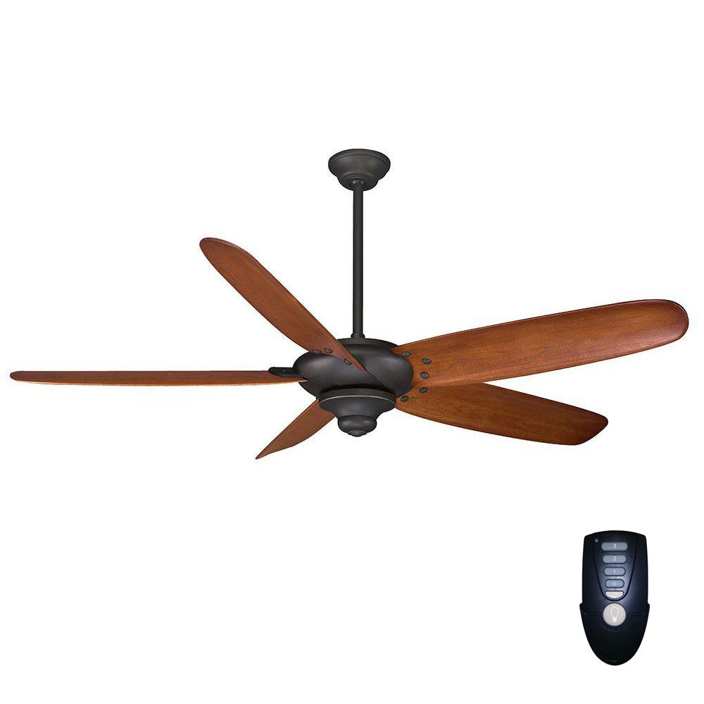 Home Decorators Collection Altura 68 In Indoor Oil Rubbed Bronze Ceiling Fan With Remote Control 26668 The Home Depot