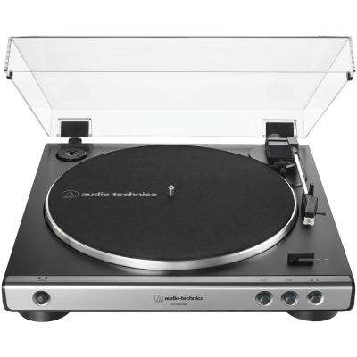 USB and Analog Fully Automatic Belt-Drive Turntable in Gray