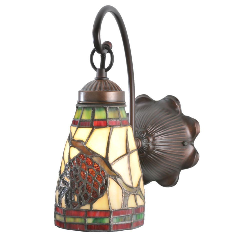 Illumine 1 Light Pinecone Dome Wall Sconce Mahogany Bronze Finish